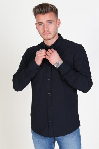 Alvaro LS Oxford Skjorte Black