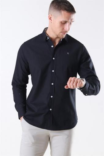 Oxford Plain Skjorte Black