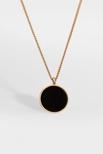 Black Onyx Halskæde Gold