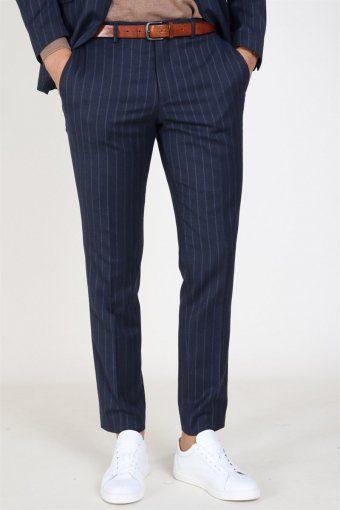 Slim Aden Stripe Bukser Grey/Blue