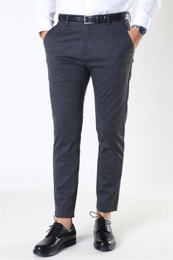 Milano Ken Pants Dark Grey/Camel