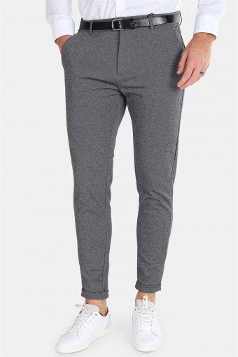 Prato Jersey Pants Dark Grey Mix