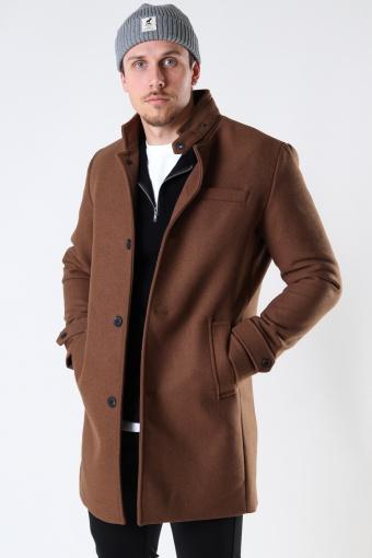 JPRBLAMELTON WOOL COAT SN Dark Coat Khaki
