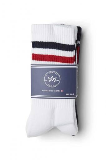 Nad 4-pack socks White/Navy/Red