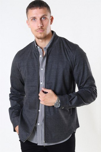 Ken Overshirt Dark Grey/Camel