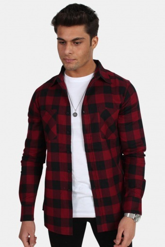 Checked Flanell Shirt Black/Burgundy