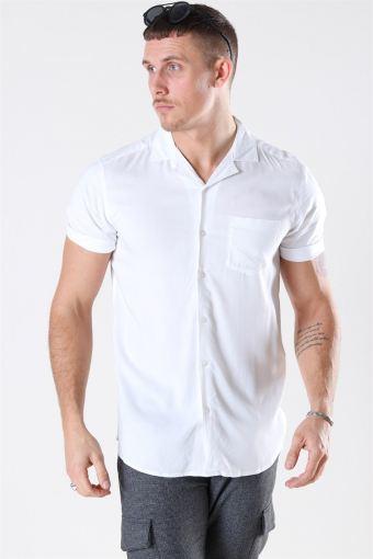 Silo Solid Viscose Skjorte White