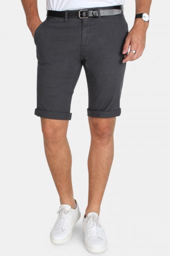 Jonas Stretch Shorts Stone Grey