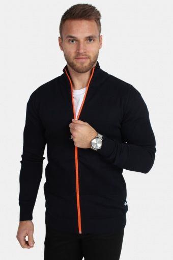 Jacob Zip Strik Navy/Orange