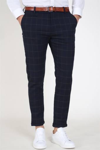 Como Check Suit Pants Dark Navy/Brown