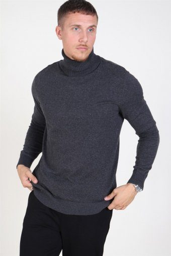 Jack & Jones Emil Rullekrave Strik Dark Grey Melange