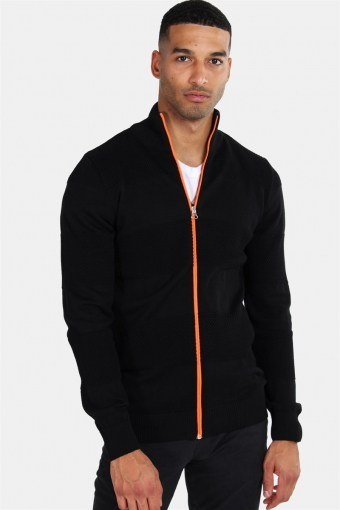 Jacob Zip Strik Black/Orange