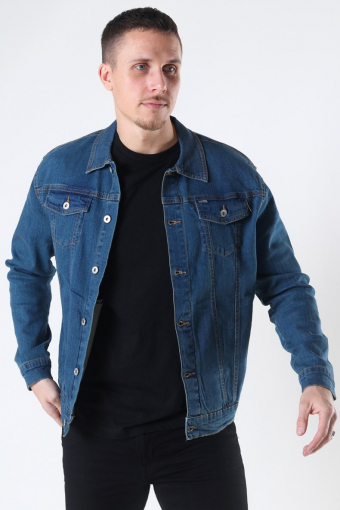 Peyton Denim Jakke Dark Village Blue Denim