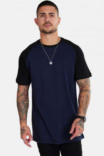 Raglan T-shirt Blue Navy/Black