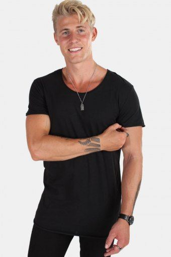Jack & Jones Bas T-shirt Neck Noos Black Detail Reg Fit