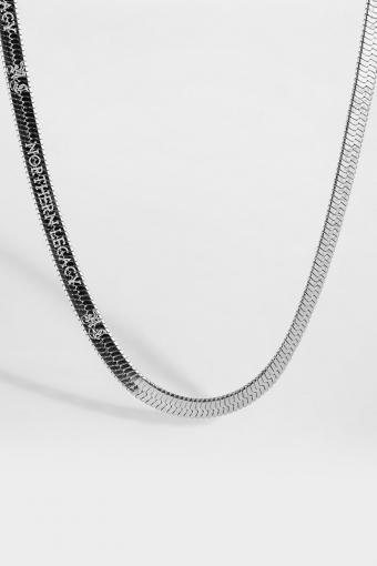 Herringbone Halskæde Silver