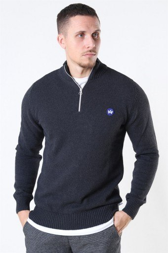 Liam Half Zip Recycle Strik Charcoal