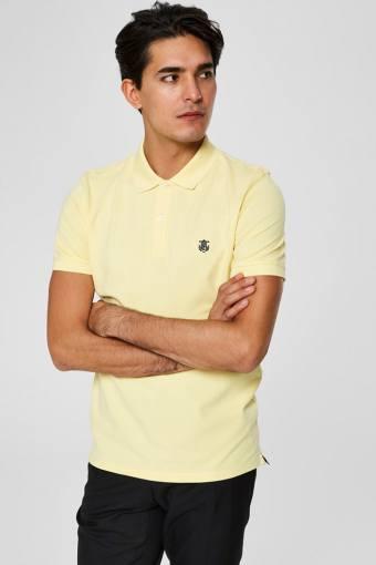 Aro S/S Embroidery Polo Skjorte W Noos Mellow Yellow