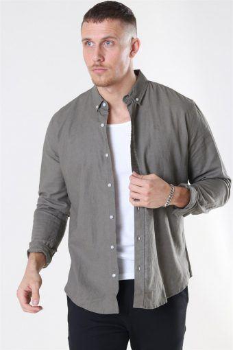 Cotton Linen Skjorte Dusty Green