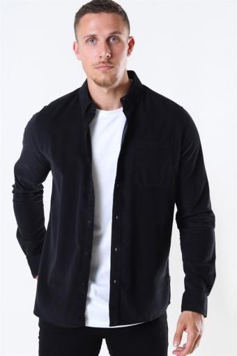 Juan LS Corduroy Skjorte Black