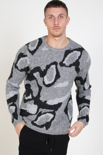 Dark Crew Neck Strik Dark Grey Melange