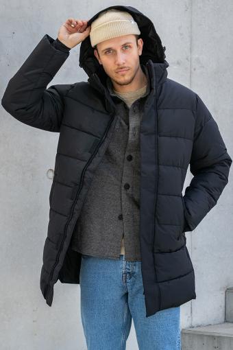ONSCARL LONG QUILTED COAT OTW Black