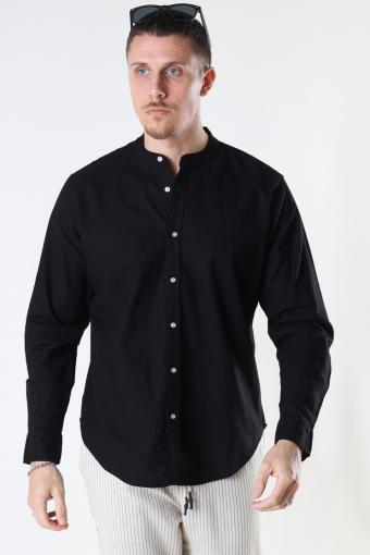 Cotton / Linnen Mao L/S Black