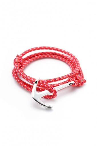 Anker Armbånd Red/White/Pink/Silver