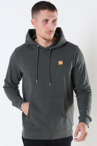 Basic Organic Hoodie Bottle Green