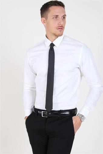 Slim-Michigan LS Skjorte Bright White