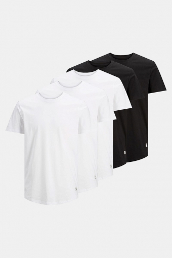 Jack & Jones Enoa 5-Pack T-shirt Black/3White