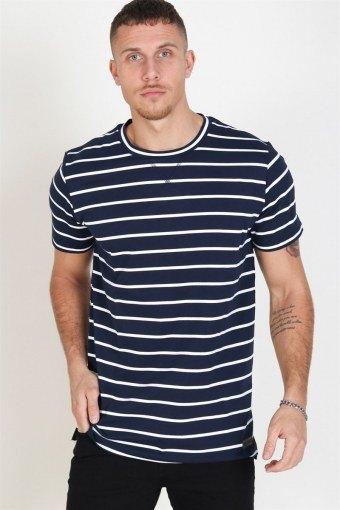 Helon T-shirt Navy/White