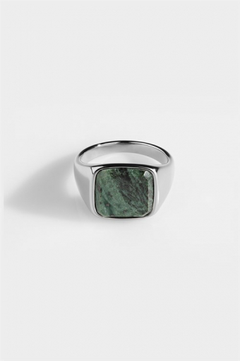 Ring Verde Signature Green Marble Silver