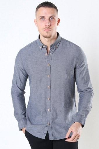 Johan Diego Cotton Skjorte Grey