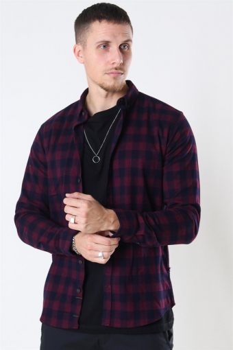 Johan Flannel Melange Check Chili Pepper