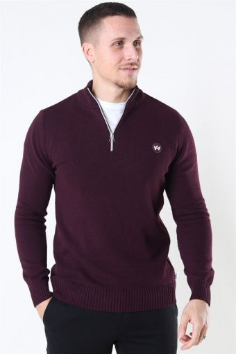 Liam Half Zip Recycle Strik Sangria