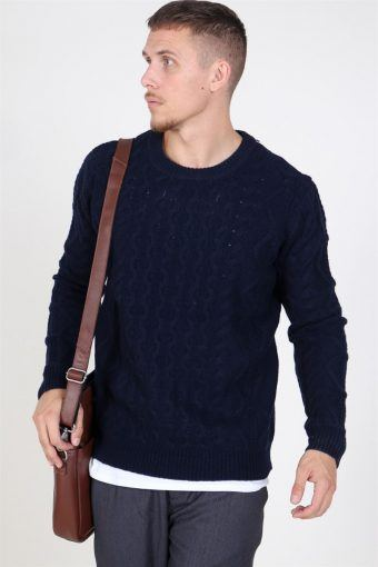 Pigalle Cable Strik Dark Navy
