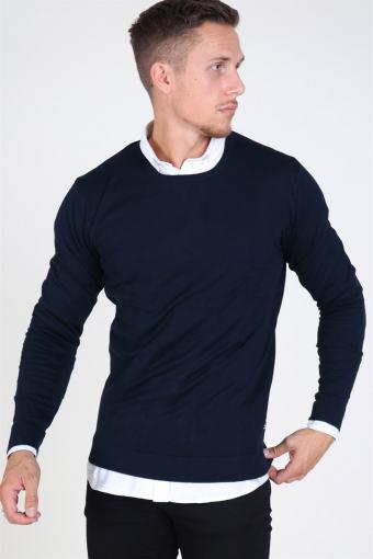 Tailored & Originals Mont O-neck Strik Insignia Blue