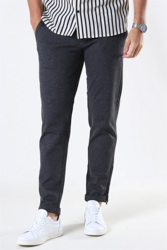 Mark Zip Pants GW Dark Grey Melange