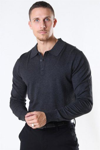 Acheletta Polo Strik Charcoal Mix