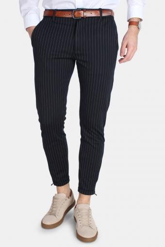 Pisa Chino Pinstripe Bukser Navy Stripe