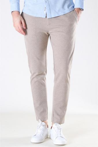 Milano Jersey Pants Camel Melange