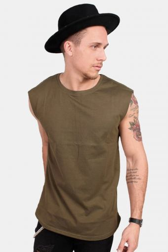 TB1562 Open Edge Sleeveless T-shirt Olive