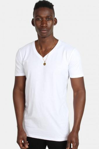 TB1559 Basic V-Neck T-shirt White