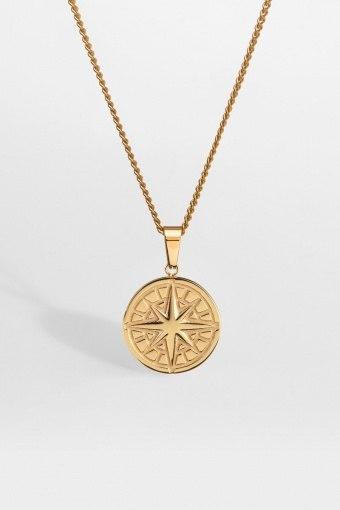 "Compass Halskæde 2.0 ""Gold"""