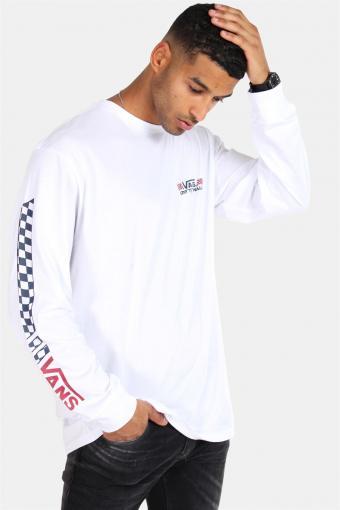 Crossed Sticks LS T-shirt White