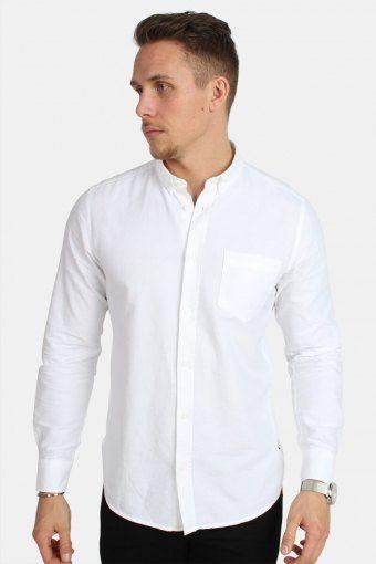 Alvaro LS Skjorte White