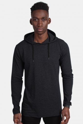 Hooded T-shirt Heather Black