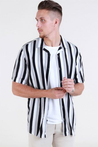 Wayne SS New Striped Skjorte Griffin