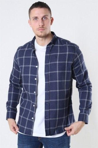 Clean Cut Sälen Flannel 1 Skjorte Navy